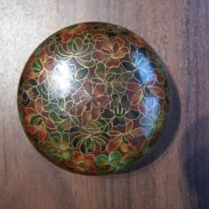 Set doua cutii de bijuterii Cloisonne (alama si email) - Arta din Metal