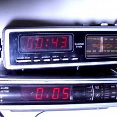 Lot 2 radio cu ceas vechi grundig si ultasound - Aparat radio