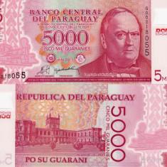 PARAGUAY 5.000 guaranies 2011 polymer UNC!!!