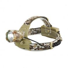 Lanterna Frontala Desert Camouflage cu Led CREE T6 NOU