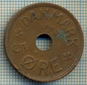 6524 MONEDA - DANEMARCA (DANMARK) - 5 ORE - ANUL 1940 -starea care se vede
