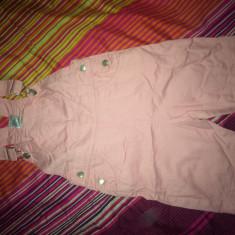 Salopeta jeans, noua, pt. 5-6 ani, Culoare: Roz, Fete