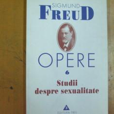 Freud Sigmund Opere 6 studii despre sexualitate Bucuresti 1999 - Carte Psihiatrie