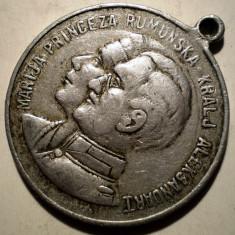 R.176 ROMANIA YUGOSLAVIA MARIA ALEXANDRU I IN AMINTIREA CASATORIEI LOR 1922 32mm - Medalii Romania