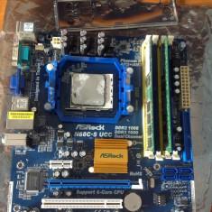 Schimb AsRock N68c-S UCC. ddr2-ddr3, AM2, AM2+, AM3, Phenom II . - Placa de Baza Asrock, Pentru AMD, Contine procesor, ATX