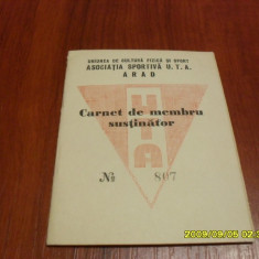 Carnet membru UTA 1964