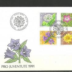 Elvetia 1991 – FLORI, FDC