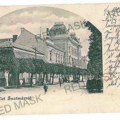 3057 - L i t h o, SATU-MARE - old postcard - used - 1901 - Carte Postala Maramures pana la 1904, Circulata, Printata