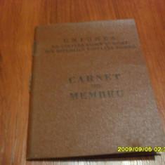 Carnet de  membru   AS  Crisana  Sebis  1965