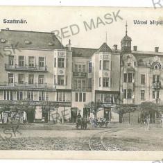 3058 - SATU-MARE, Market - old postcard, CENSOR - used - 1915 - Carte Postala Maramures 1904-1918, Circulata, Printata