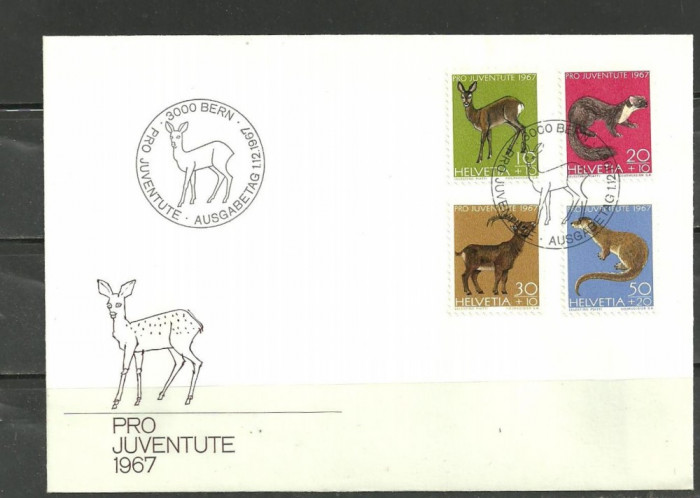Elvetia 1967 – ANIMALE SALBATICE MICI,  (9) foto mare