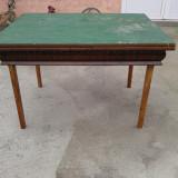 MASA ARDECO DIN LEMN DE NUC EXTENSIBILA .reducere, Mese si seturi de masa, Art Deco, 1800 - 1899