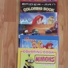 Carte colorat/desenat Minions, Cars, Mica sirena, Cartea junglei - Carte de colorat