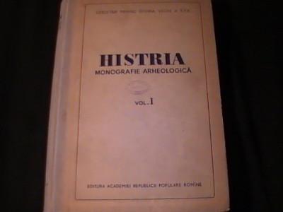HISTRIA-MONOGRAFIE ARHEOLOGICA-VOL1-587 PG A 4-CONTINE SCHITE- CERCET. PRIV. foto