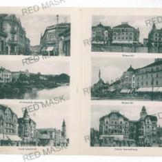 3052 - ORADEA, Multi vue - old postcard - used - 1916 - Carte Postala Crisana 1904-1918, Circulata, Printata