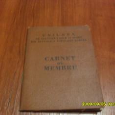 Carnet de membru A.S. Crisul Ineu 1964