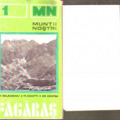 Muntii nostri - Fagaras cu harta - Harta Turistica