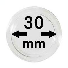 CAPSULE pentru monede, pvc, LINDNER Ǿ 30 mm