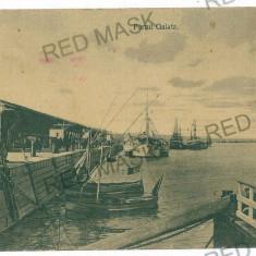 1797 - GALATI, harbor - old postcard - used - 1916 - Carte Postala Moldova 1904-1918, Circulata, Printata