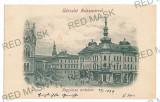 3041 - CLUJ, Market, Litho - old postcard - used - 1899, Circulata, Printata