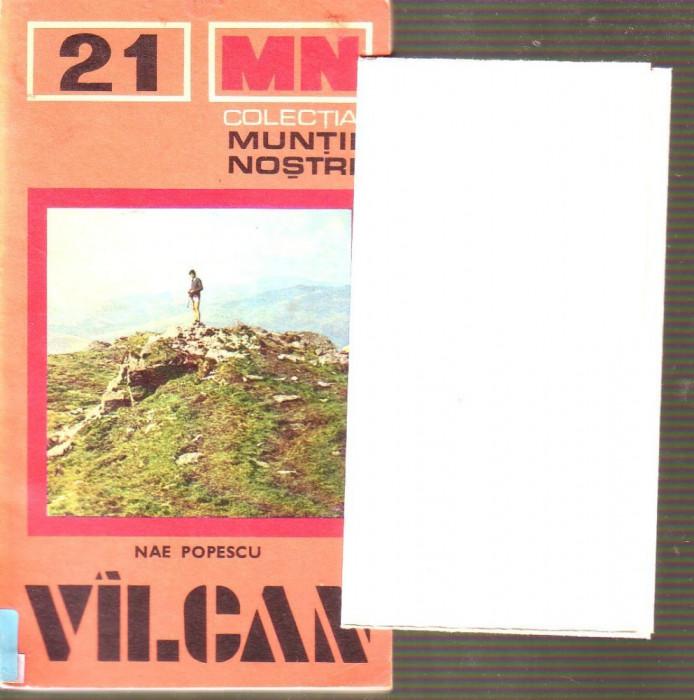 Muntii nostri - Valcan  cu harta foto mare
