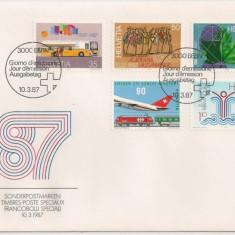 Elvetia 1987 – ANIVERSARI, FDC