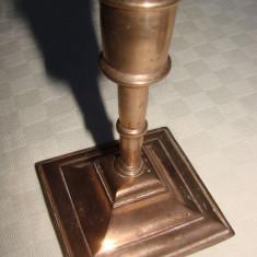 Sfesnic de masa din bronz masiv - Metal/Fonta, Sfesnice