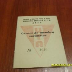 Carnet de membru UTA 1956