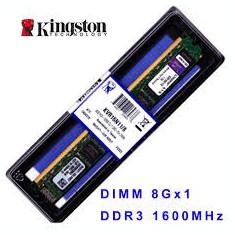 Memorii KINGSTON DDR3 8 Gb de calculator, pret promo, garantie - Memorie RAM Kingston, 1600 mhz, Dual channel