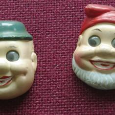Lot 2 bucati - Ascutitoare din ceramica cu ochi miscatori Pitic si Bran