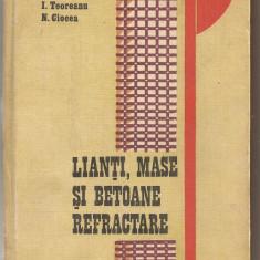 (C6296) I. TEOREANU - LIANTI, MASE SI BETOANE REFRACTARE - Carti Metalurgie