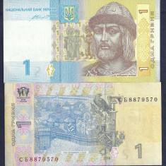 UCRAINA 1 HRIVNA 2014 [2] P-116 Ac, XF++ a UNC, Semn VALERIYA HONTAREVA - bancnota europa