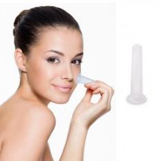 ventuza pentru masaj facial si zona ochilor, din silicon, 5 x 1.5 cm
