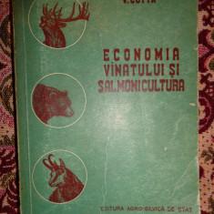 Economia vanatului si salmonicultura an 1956/708pagini- V.Cotta - Carte Biologie