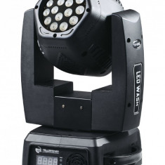 NOU! MOVING HEAD LED WASH CU 2 FETE, 32 LEDURI x 3WATT, AFISAJ, DMX512, PUTERE MARE. - Moving heads club