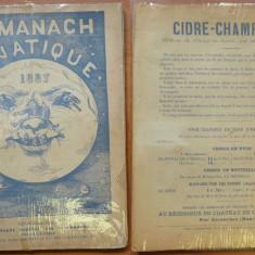 Almanach lunatique , Paris , 1887 , cu multe gravuri