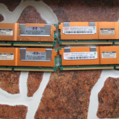 Kit 4x1GB RAM Fully buffered DDR2-667 CL5 - Memorie RAM HP, 667 mhz
