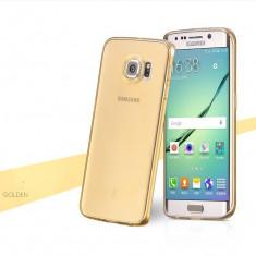 Husa HOCO Light slim - 0.5 mm, SAMSUNG GALAXY S6 EDGE PLUS, transparent, GOLD - Husa Telefon Hoco, Auriu, Gel TPU