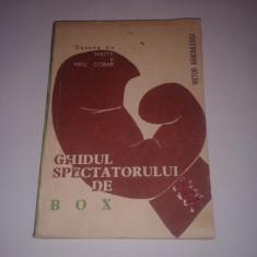 VICTOR BANCIULESCU - GHIDUL SPECTATORULUI DE BOX ~ desene de MATTY si NELL COBAR - Carte sport