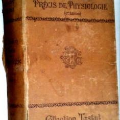 Collection Testut - Precis de physiologie - E. Hedon - Paris 1921