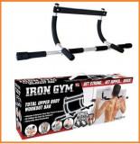 Bara de tractiuni/Bara Fitness Iron Gym, Pe usa