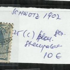 ELVETIA 1902 - 89 C. 25 C, Stampilat