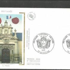 FRANTA 1987 - ACADEMIA MILITARA NATIONALA, FDC