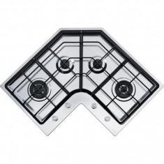 Plita Franke Neptune - FHNE COR 4 3G TC XS C - Plita incorporabila Franke, Argintiu, Numar arzatoare: 4, Gaz