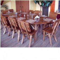 Masa oval cu 10 scaune Gardenland - MSI 005 - Masa gradina