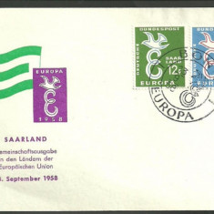GERMANIA (SAARLAND) 1958 - EUROPA CEPT,  FDC