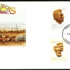 EXPLORERS OF AUSTRALIA - FDC 1983