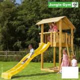 Loc de joaca pentru copii Jungle Gym Shelter - tobogan verde mar