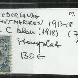 OLANDA 1913 - 18 - 3. 1 1/2 C., Stampilat