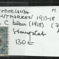OLANDA  1913 - 18   -   3. 1 1/2 C.